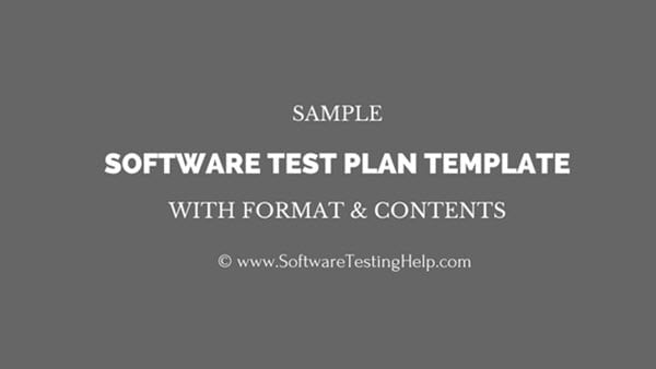 Sample Software Test Plan Template With Format And Contents