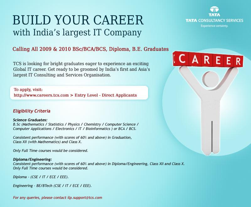 tcs hiring 2009 and 2010 graduates software testing help