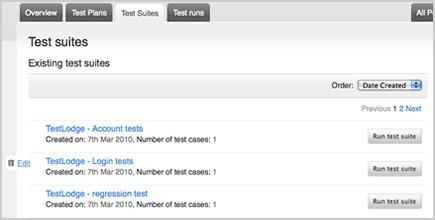 Test Suites Creation