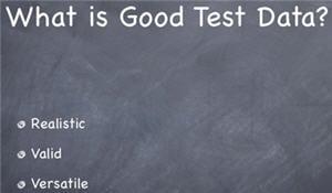 good test data