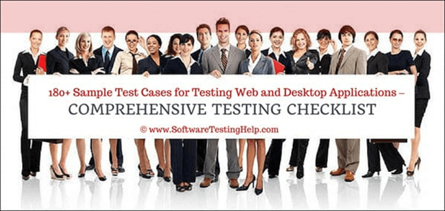 Sample web application test cases and scenarios