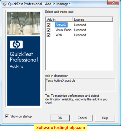 QTP Add-in manager