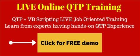 QTP training 2