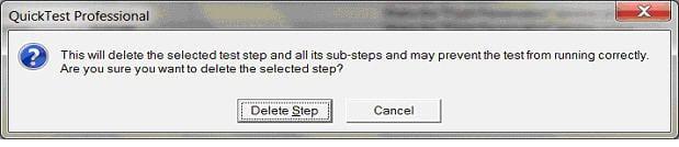 QTP delete steps