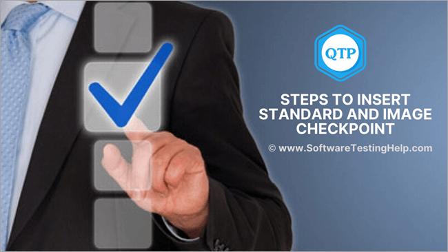 Insert Standard and Image Checkpoint