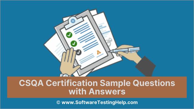CSQA Certification Sample Questions