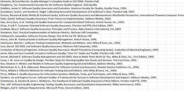 CSQA certification study books