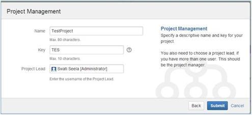 Enter the Project Details