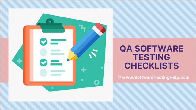 The Qa Software Testing Checklists Sample Checklists Included