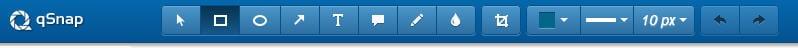 qSnap toolbar