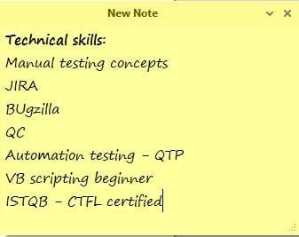 Testing resume 1