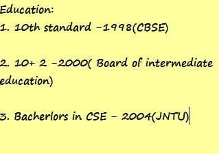 Testing resume 2