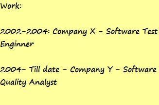 Testing resume 3