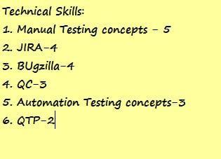 Testing resume 4