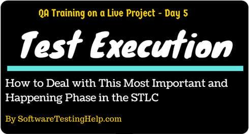 test execution STLC