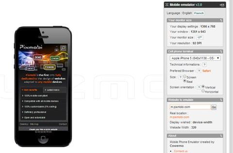 mobile device emulator 2