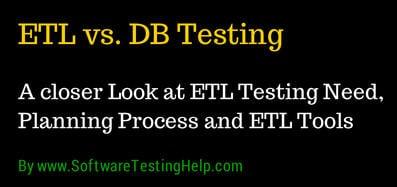 ETL vs DB testing