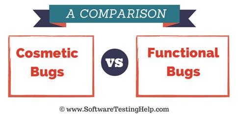 cosmetic bugs vs functional bugs