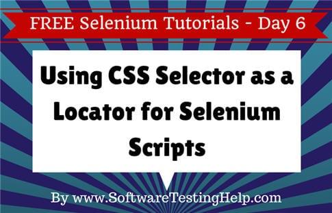 CSS Selector Selenium Locator