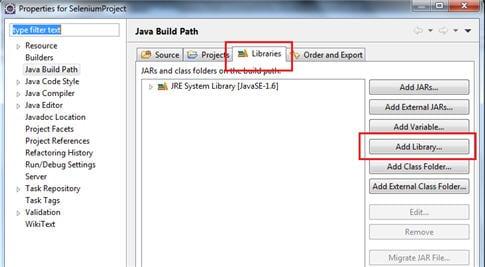 Junit framework Selenium script