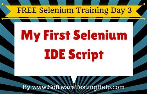 Selenium IDE script