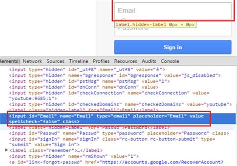 How to Locate Elements in Chrome and IE Browsers for Building