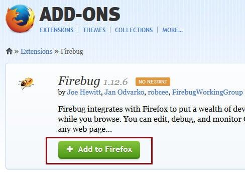 install firebug