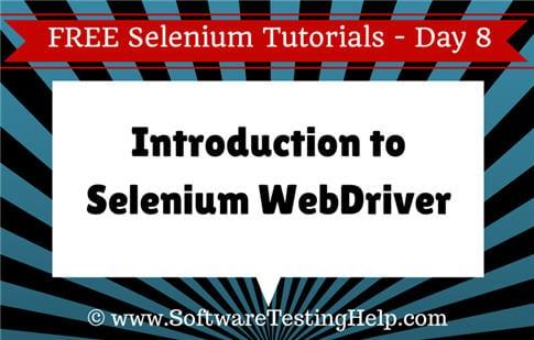 intro to selenium webdriver