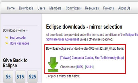 webdriver installtion with eclipse 4