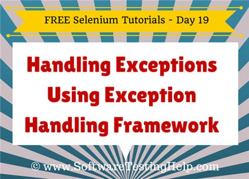 Exception handling in Selenium 2