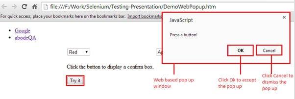 webdriver alerts 2