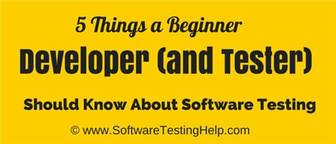 developer and tester