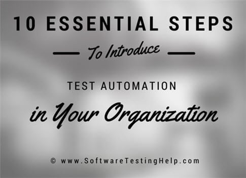 steps to introduce test automation