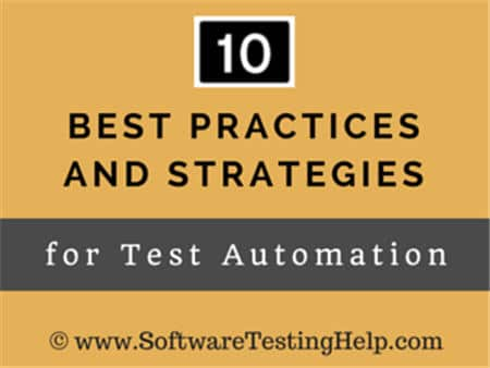Best Practices for Test Automation