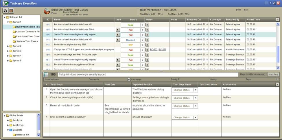 Zephyr Enterprise User Interface 2