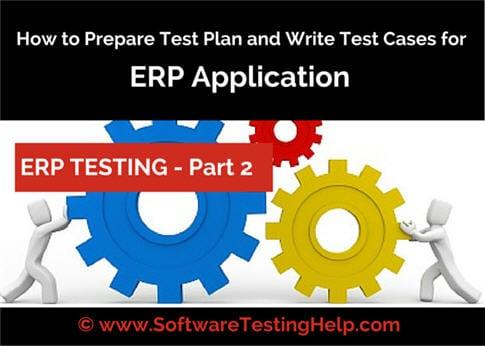 erp testing test plan