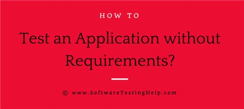 test without requirements