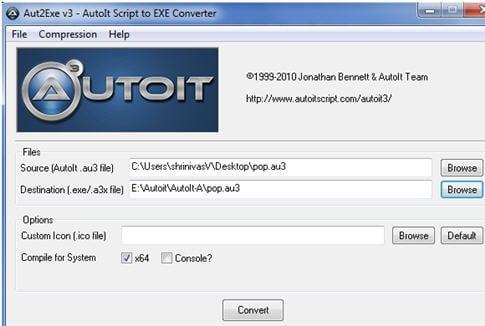 AutoIt Script to Exe converter