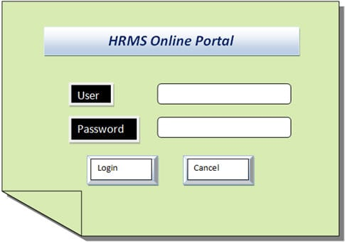 Example Use Case - HRMS Online Portal