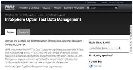 IBM InfoSphereOptim Test Data Management