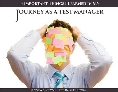 QA test manager journey
