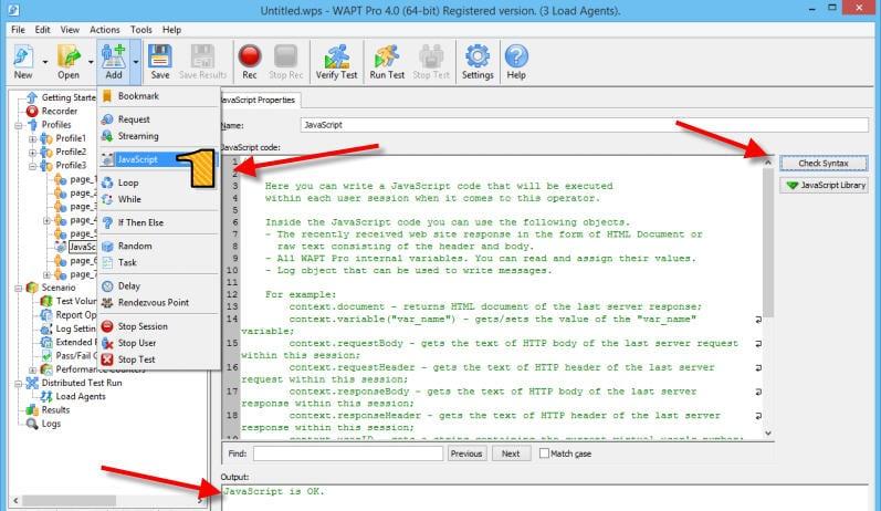 WAPT pro JS use
