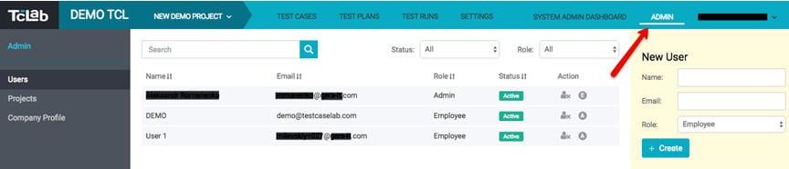 Company Admin panel