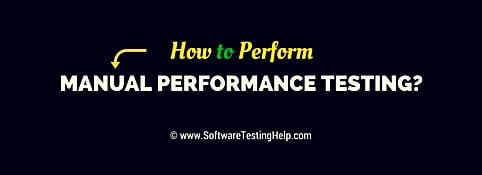 Manual Performance Testing