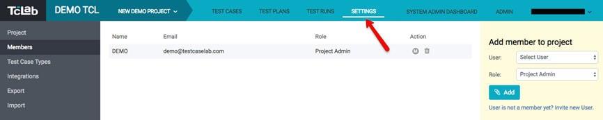 Project Admin panel