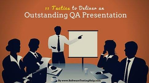 Deliver QA testing presentation