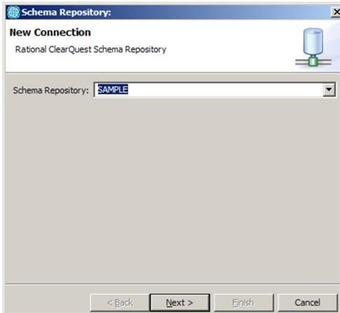 Schema Repository dialog box