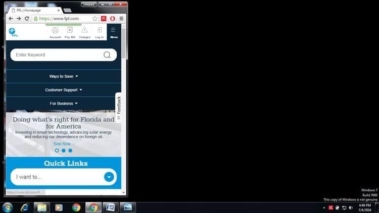 Chrome emulator to test responsive design-resized