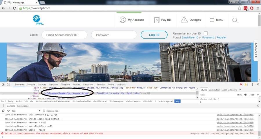 image testing for responsive webs design laptop
