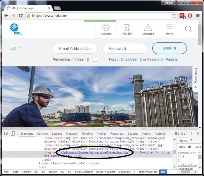 image testing for responsive webs design tablet